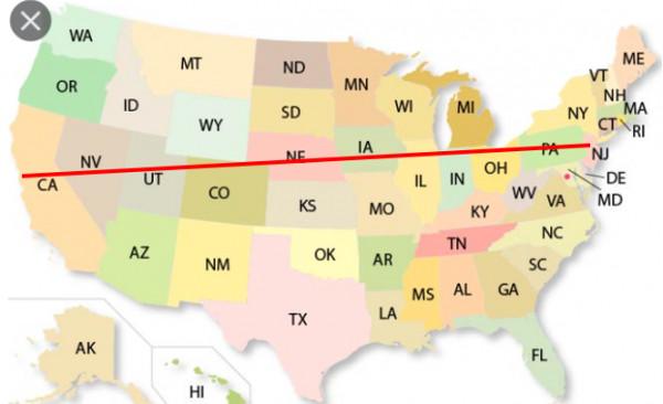 驾车4千多公里横穿美国