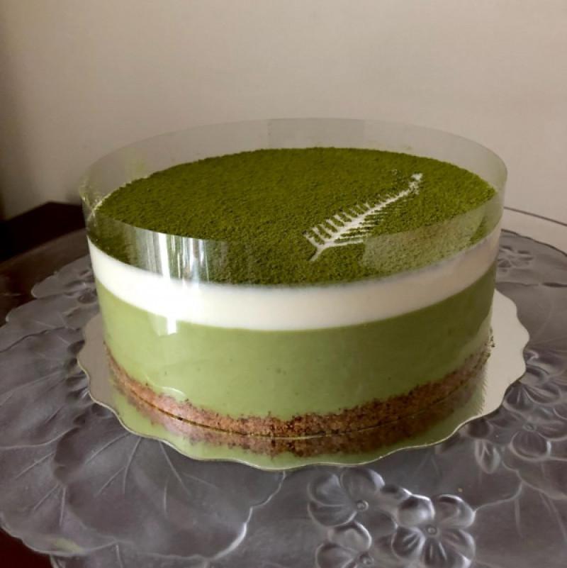正在研制中的日式抹茶蛋糕