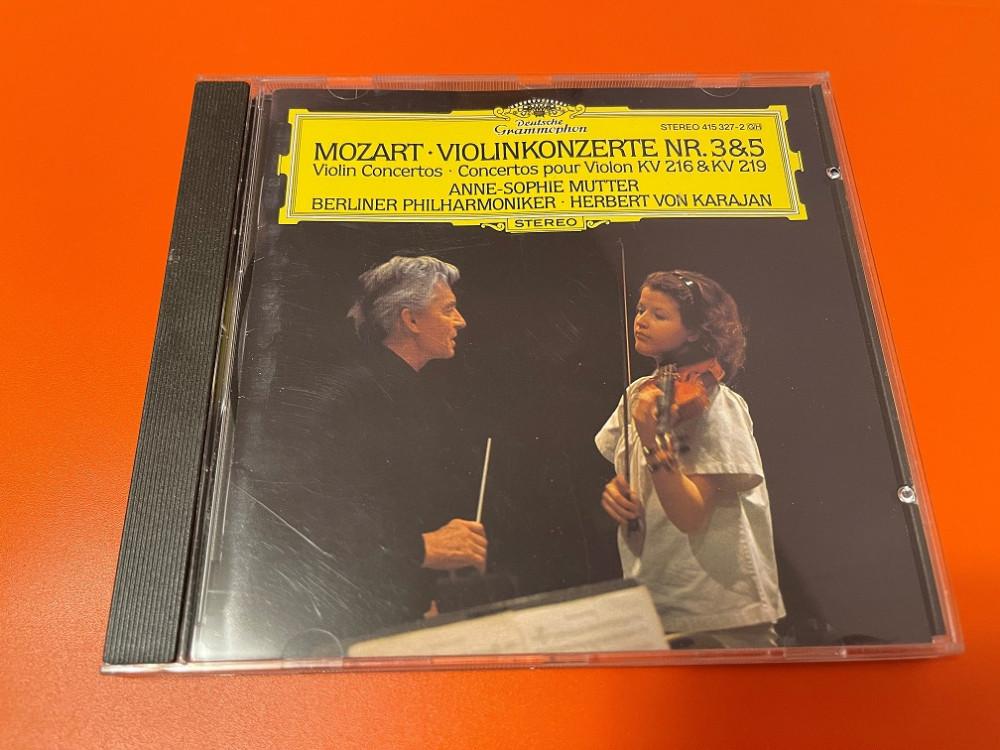 2021年6月13日 莫扎特 第三和第五 小提琴协奏曲 (Anne-Sophie Mutter / Karajan)