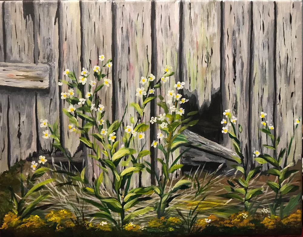 篱笆 - 丙烯画